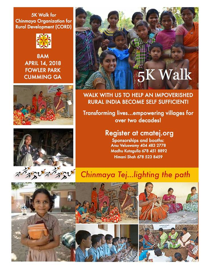 Chinmaya Mission Alpharetta: Walkathon