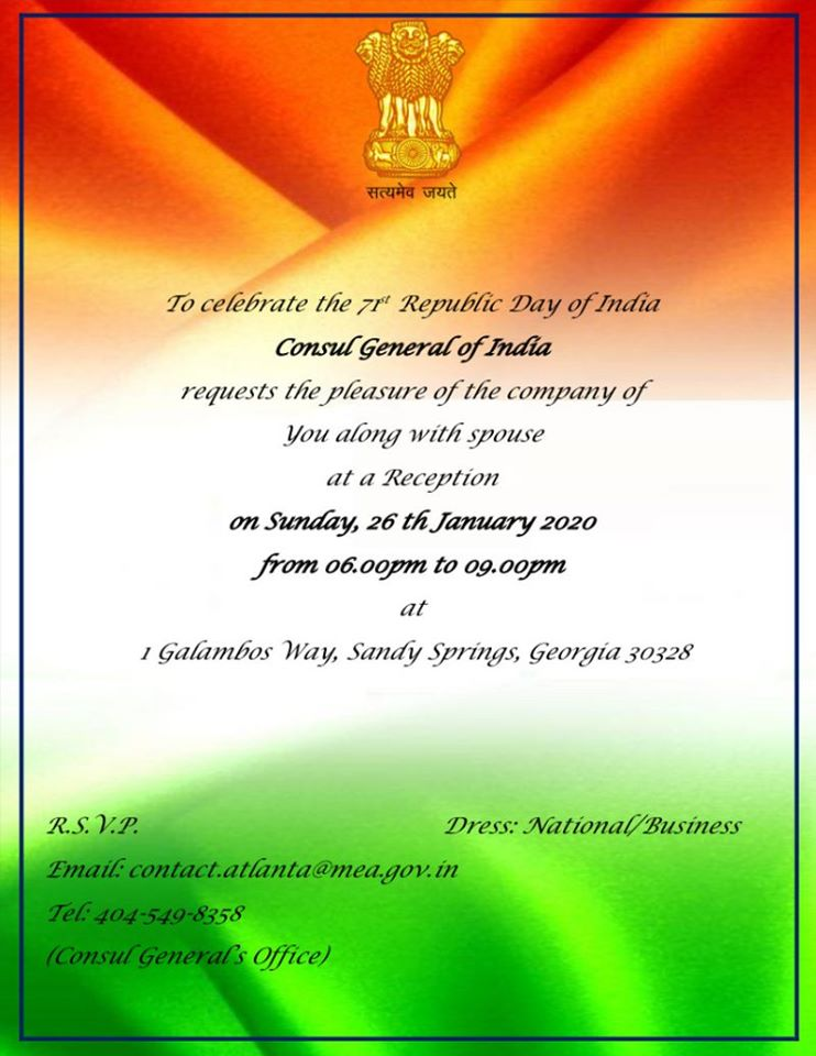 Consulate Celebrates Republic Day in Sandy Springs