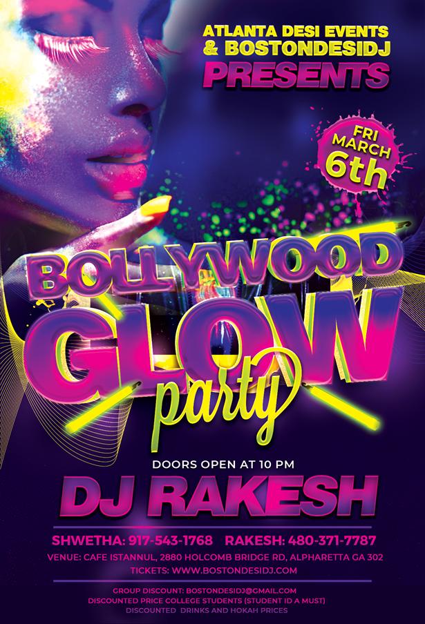 DJ Rakesh Bollywood Glow Party in Alpharetta