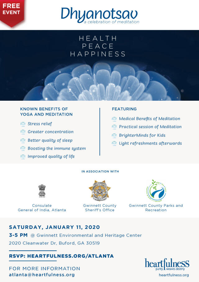 Dhyanotsav A Celebration Of Meditation in Buford