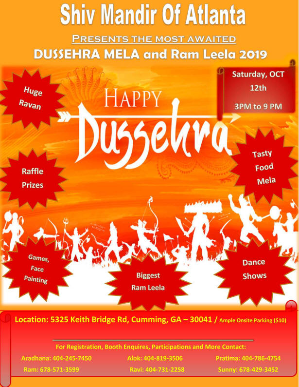 Dussehra Mela and Ram Leela 2019