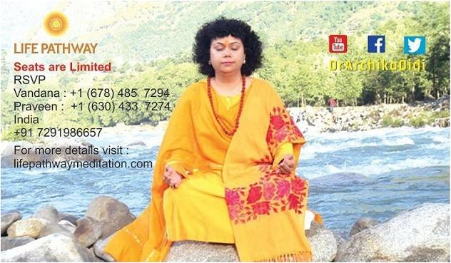Free Meditation retreat by Dr. Archika Didi