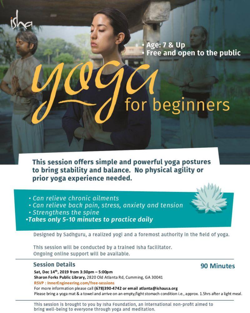Free Yoga for Beginners in Cumming