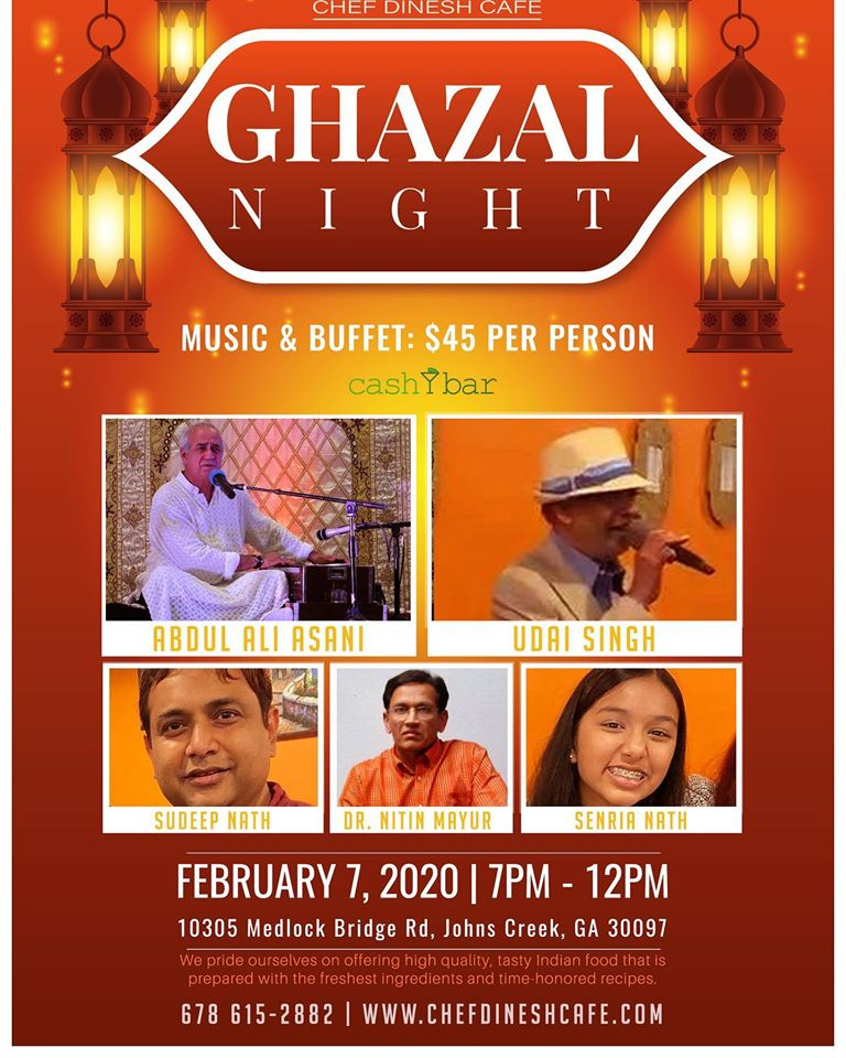 Ghazal Night with Ali Asani & More! In Johns Creek