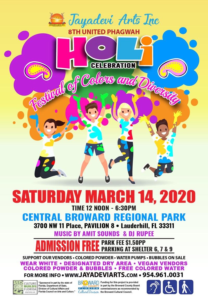 Holi Celebration Festival of Colors & Diversity in Lauderhill