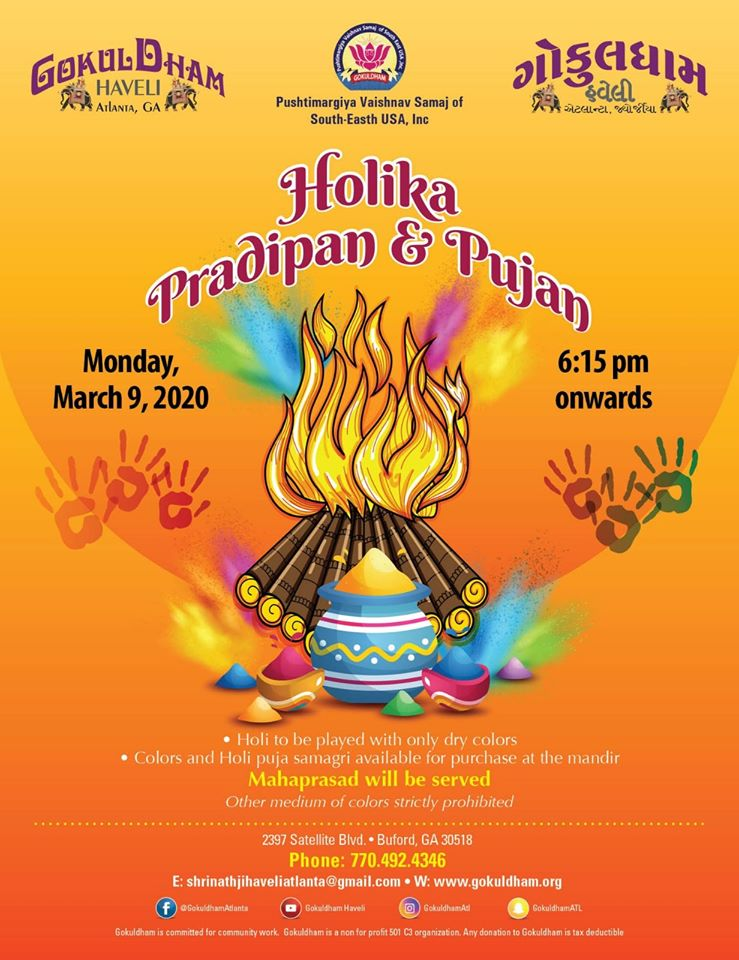 Holika Pradipan and Pujan in Buford