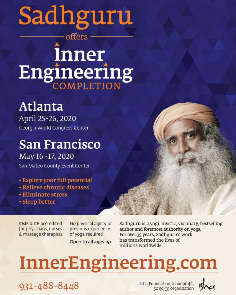 Inner Engineering Completion in Atlanta