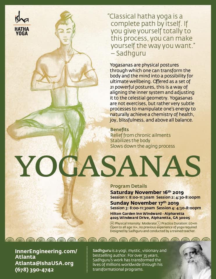 Isha: Yogasanas in Alpharetta
