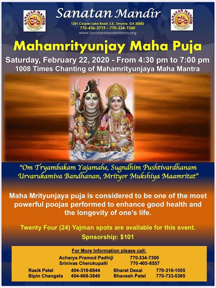 Mahamrityunjay Maha Puja in Smyrna