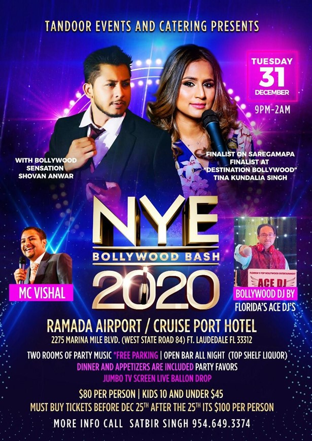 NYE Bollywood Bash 2020 in Fort Lauderdale