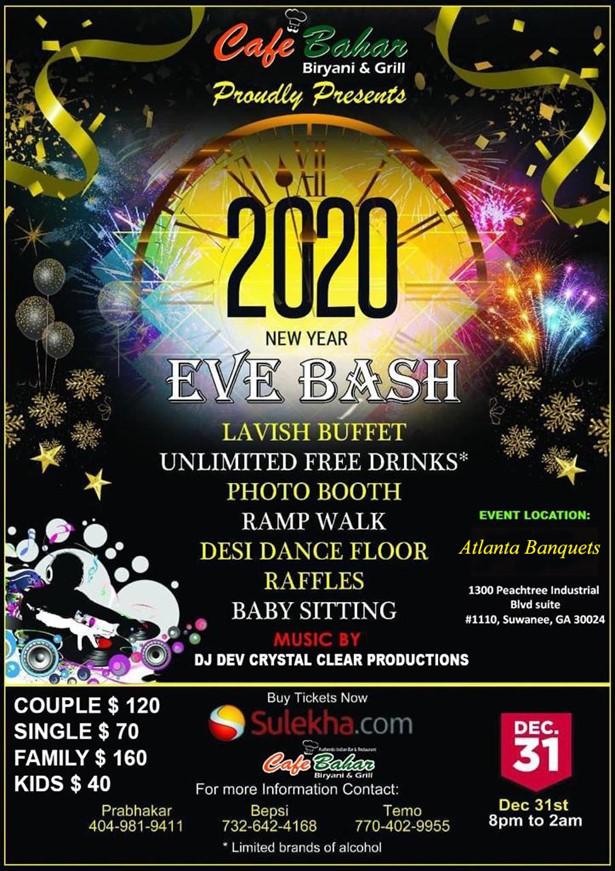 New Years Eve 2020 Bash in Suwanee