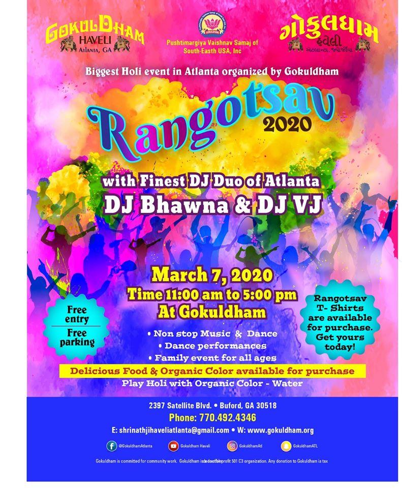 Rangotsav 2020 in Buford