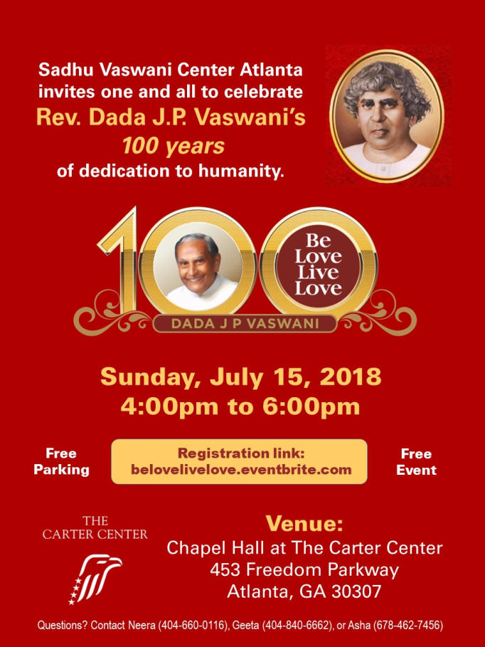 Dada J. P. Vaswani's 100th Birthday
