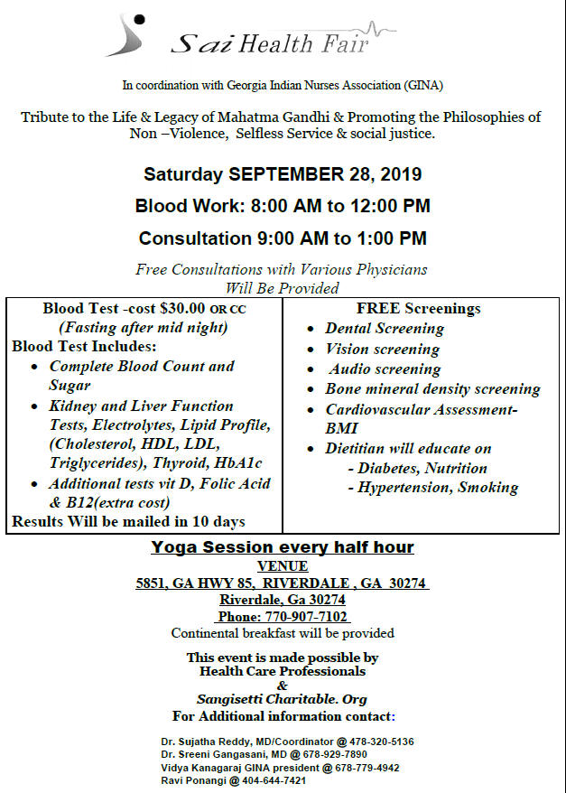 Sai Health Fair