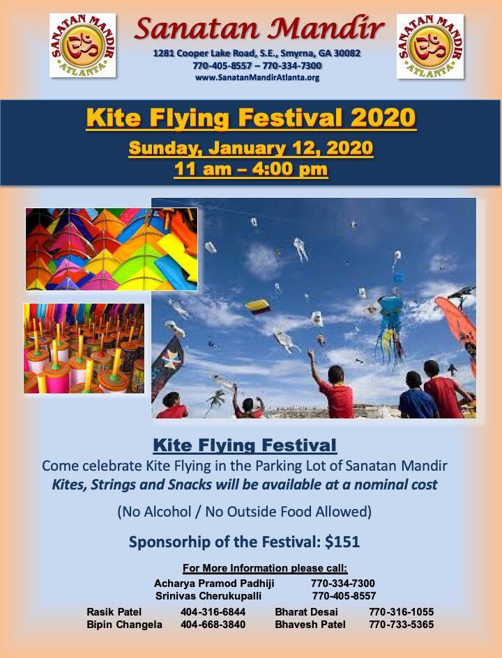 Sanatan Mandir: Kite Flying Festival in Smyrna