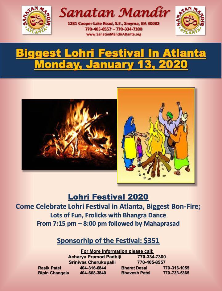 Sanatan Mandir: Lohri Festival Smyrna