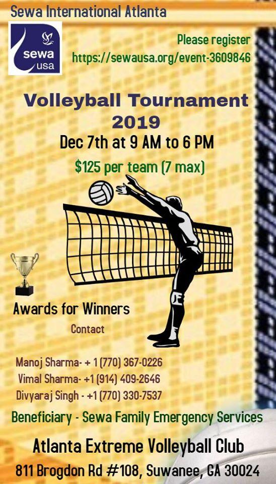 Sewa: Volleyball Tournament in Suwanee Hosted by Sewa International USA - Atlanta