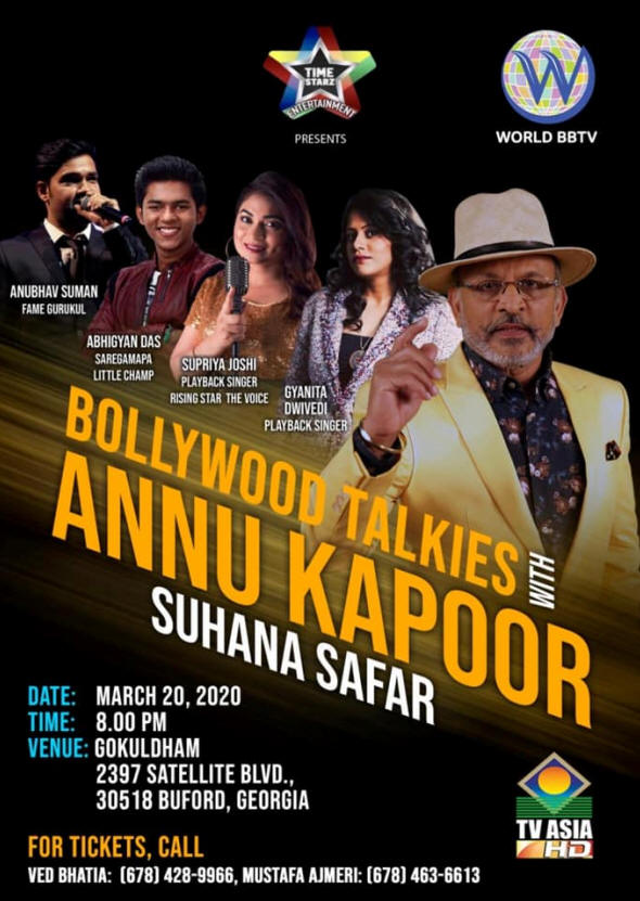 Suhana Safar : Bollywood Talkies with Annu Kapoor in Buford