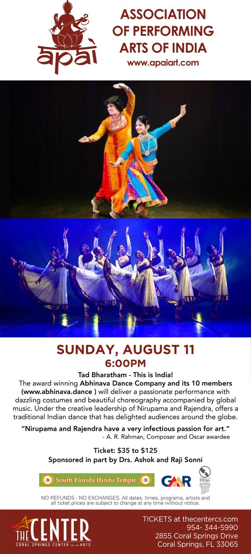 TAD BHARATHAM – A DANCE PROGRAM