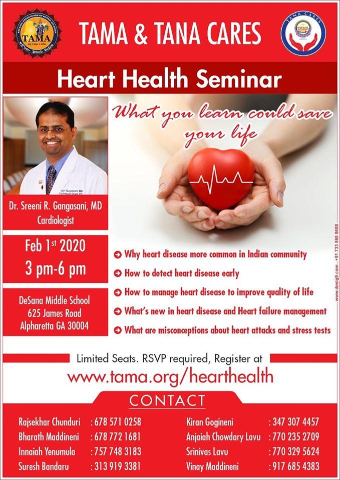 TAMA TANA CARES Heart Health Seminar in Alpharetta