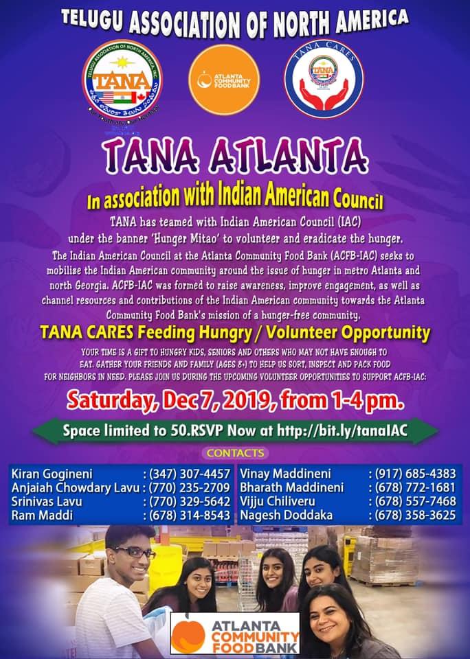 TANA Cares Food Drive in Atlanta