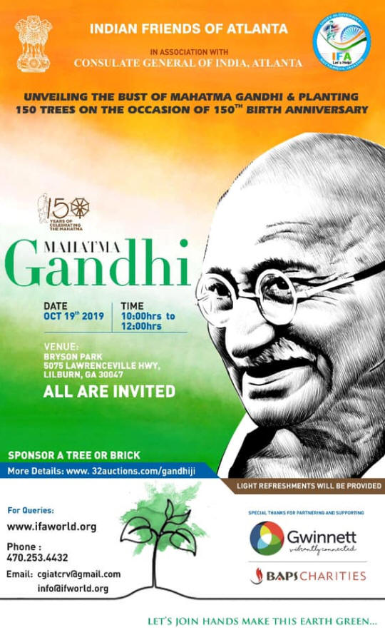 Unveiling the Bust of Mahatma Gandhi