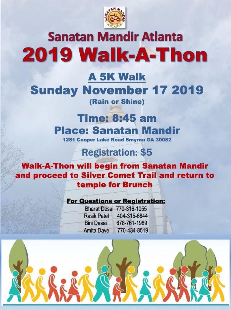 Walk-A-Thone in Smyrna Hosted by Sanatan Mandir Atlanta