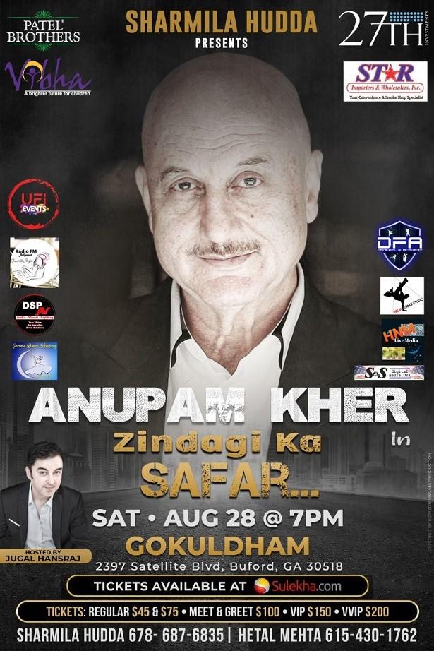 Zindagi ka Safar Featuring Anupam Kher in Atlanta