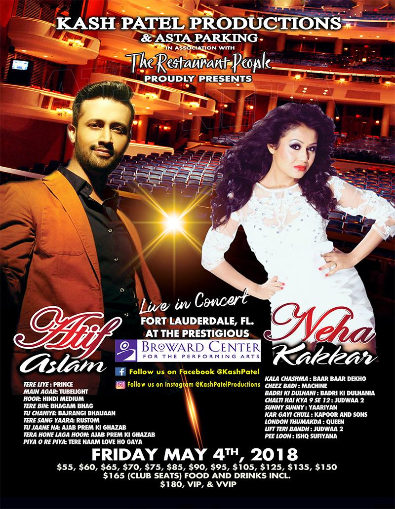 Atif Aslam and Neha Kakkar Live in Concert
