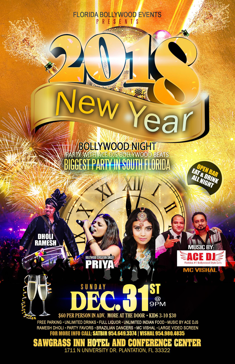 Bollywood Night Party with ACE DJS Bollywood Beats in South Florida
