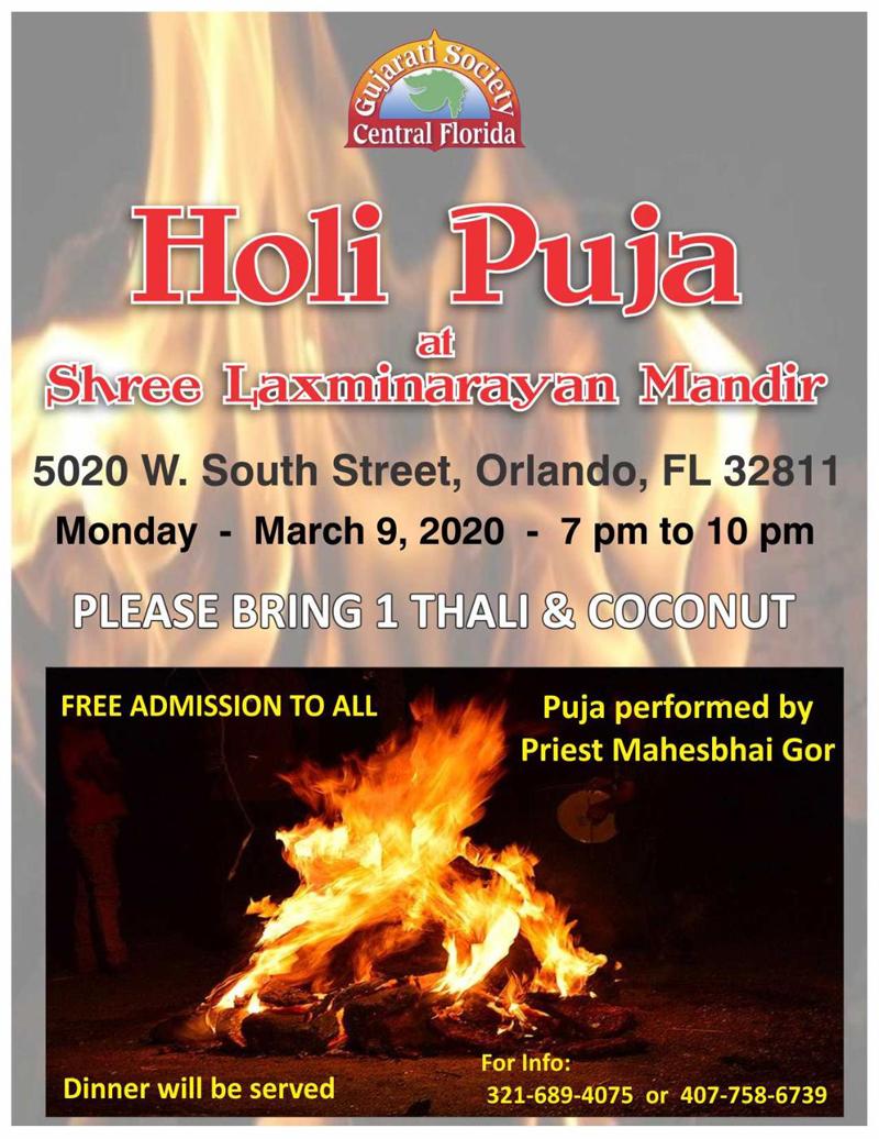Holi Puja in Orlando