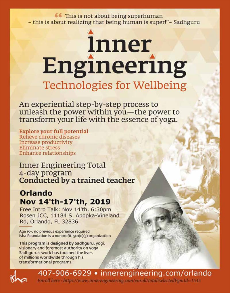 Inner Engineering Technologies for WellBeing