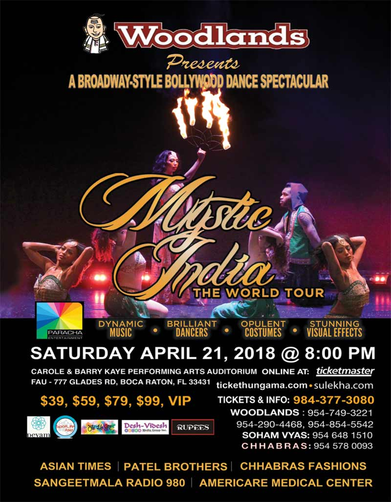Mystic India The World Tour in South Florida