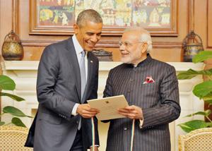 President Obama With Narendra modi