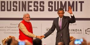 Obama with Narendra modi In press conferance