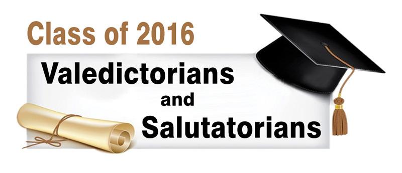 Class of 2015 Valedictorians and Salutatorians