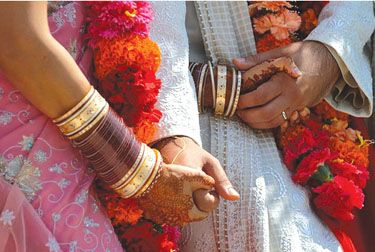 The rituals convey the values, which should be followed after marriage to lead to a happy married life