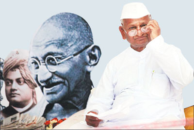 Gandhian Anna Hazare is a calm man of strong character, flawless integrity and a pleasing smile. Once an Army man, who served in the 1965 Indo Pak war, the Modern Gandhi is no stranger to hunger strikes, protests against government and even serving a jail term.