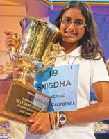 Snigdha Nandipati from San Diego, California, won the 85th Scrips National Spelling Bee.