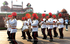 The Independence Day Rehearsal at Red fort in Delhi on Saturday