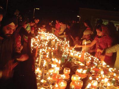 Diwali Celebration Diya and Candles