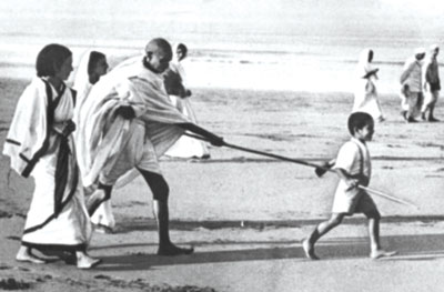 Gandhiji and Child