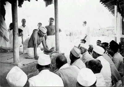 Gandhiji's meeting