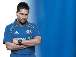 Sachin Tendulkar in Mumbai Indians clothing