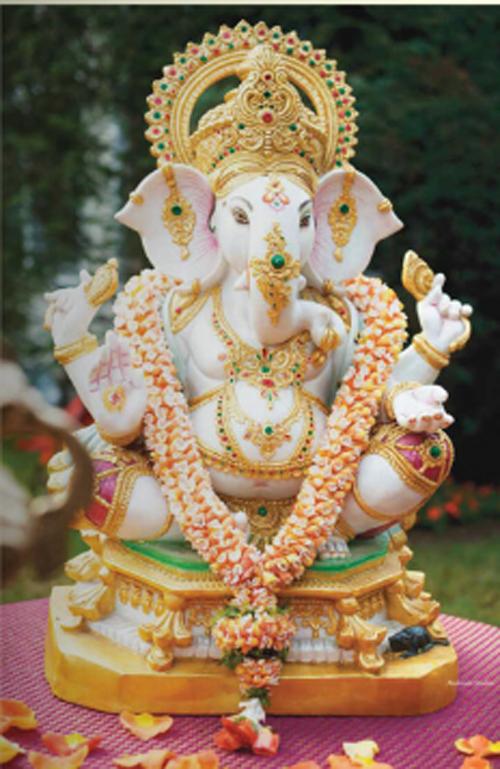 Ganeshji and Reception set