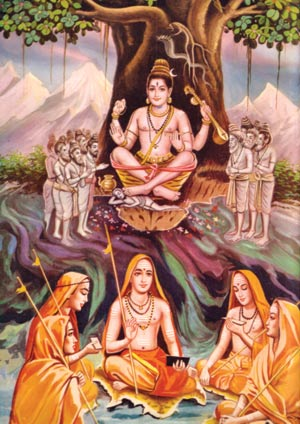 Adi Shankaracharya and with Chelas
