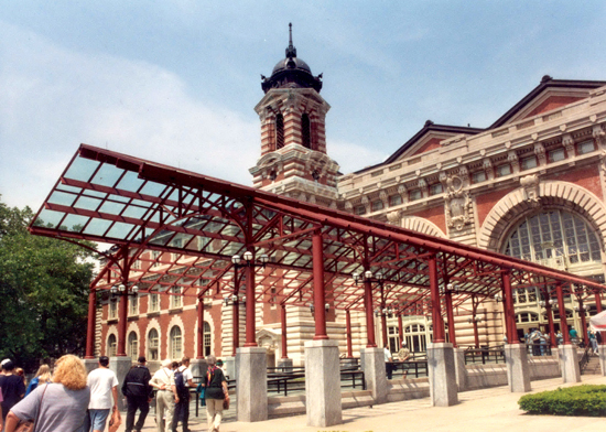 Renovated main building at Ellis Island