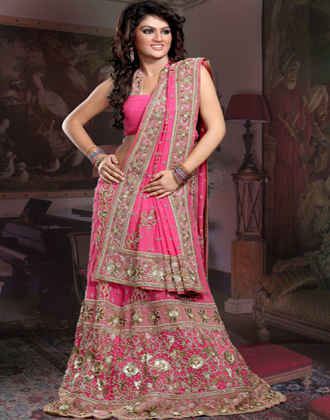 Indian Latest Pink Bridal Dress
