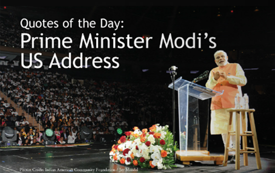 Quotes of the Day: Prime Minister Modi's US Address