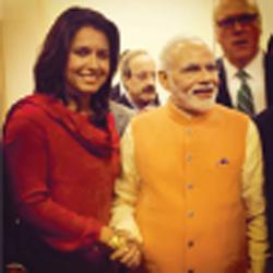 Prime Minister Narendra Modi with Tulsi Gabbard